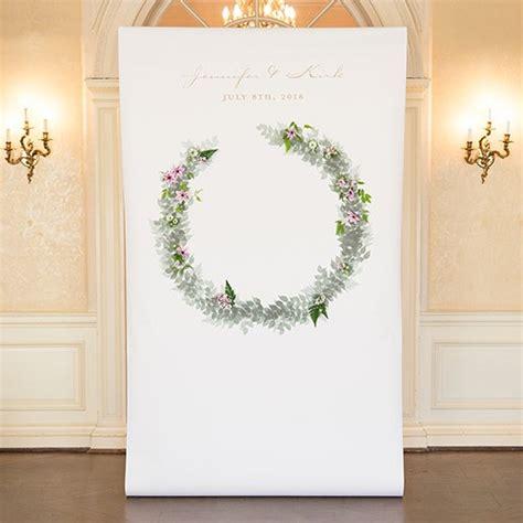 Wedding Backdrop Canvas wreath personalized premium canvas backdrop the