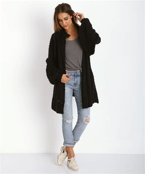 Sweater Morning Abu Mistyhoodie wildfox solid morning coat clean black wls416000 free shipping at largo drive