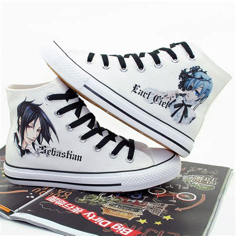 flat canvas shoes japan anime black butler