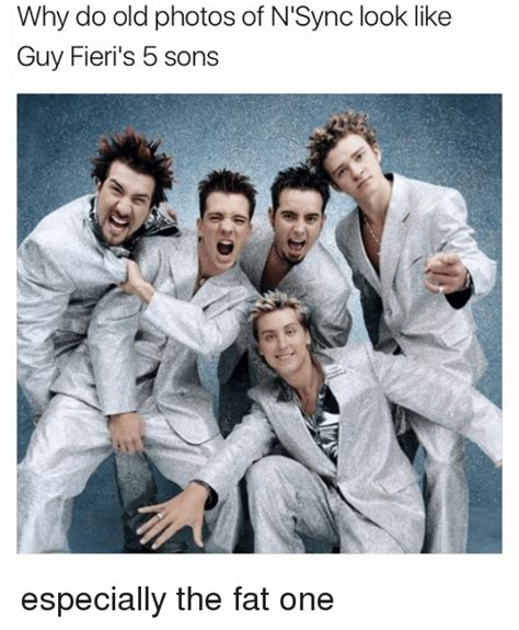 Nsync Meme - why do old photos of n sync look like guy fieri s 5 sons