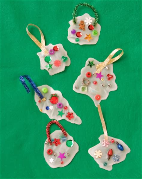 make glue ornaments for activity education