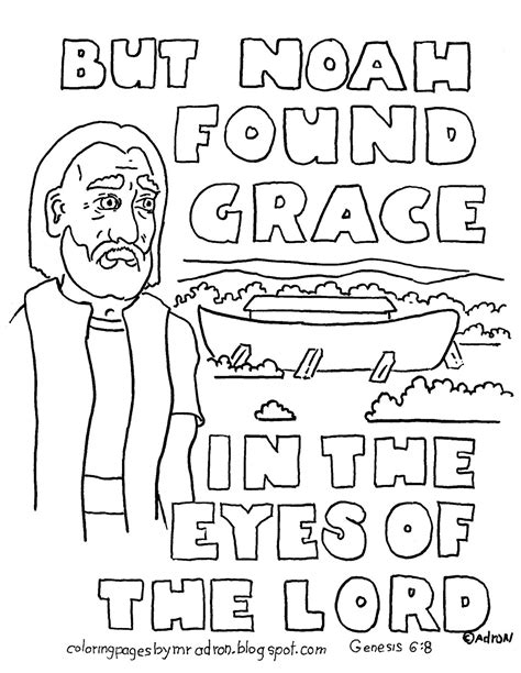 bible verse with noah and the ark coloring pages coloring pages for kids by mr adron noah and the ark