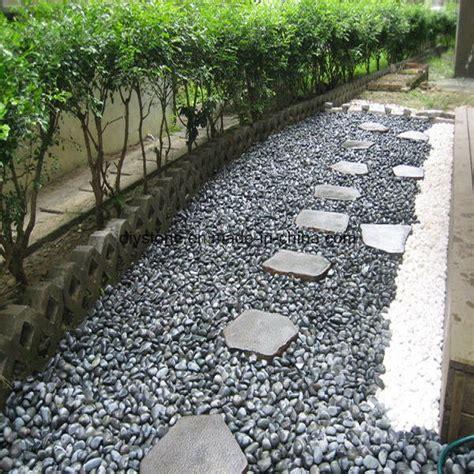 china black pebble stone garden decoration china pebble