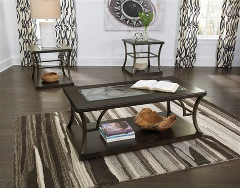 3 living room table sets lamink brown occasional table set 3 cn t095 13