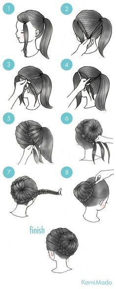 girly hairstyles   love braided top knots french braid  hair style