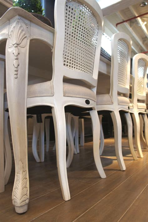 vintage bamboo furniture sydney our lenoir dining chairs in antique white with rattan back