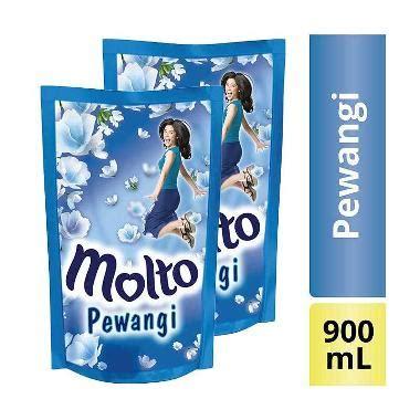 Pewangi Molto 900 Ml 1 Pcs jual molto pelembut dan pewangi pakaian blue 2x 900 ml
