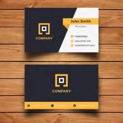 modern corporate business card design vector free