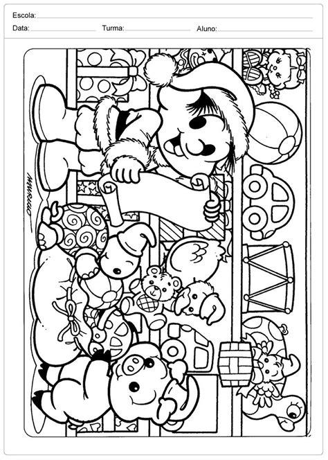 Desenhos de Natal para Colorir - Chico Bento - Escola Educação
