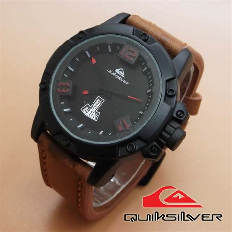 jam tangan quiksilver leather brown leather list