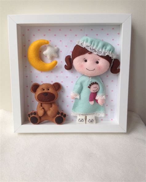 Handmade Nursery Decor - doll and box frame baby decorative frame child frame