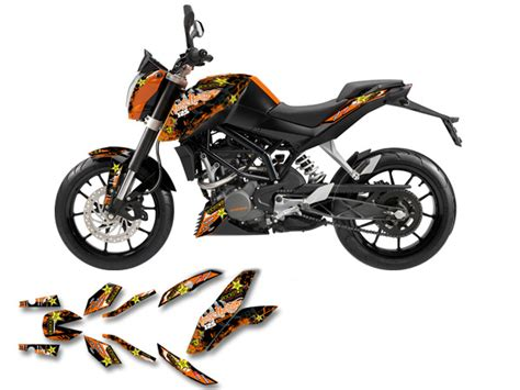 duke 125 dekor ktm duke 125 200 2011 2017 sm dekor decal kit