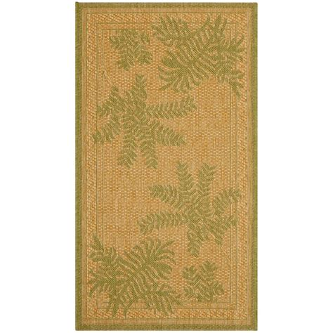 Safavieh Courtyard Natural Green 2 Ft X 3 Ft 7 In 2 X 3 Outdoor Rug