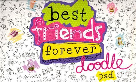 doodle forever best friends forever doodle pad bookoutlet
