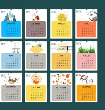 printable calendar graphic design 2018 calendar vector free vector download 1 490 free