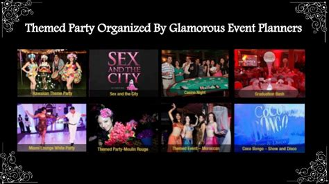 themed party organisers themed party organized by glamorous event planners