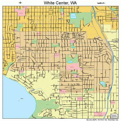 map of center white center washington map 5378225