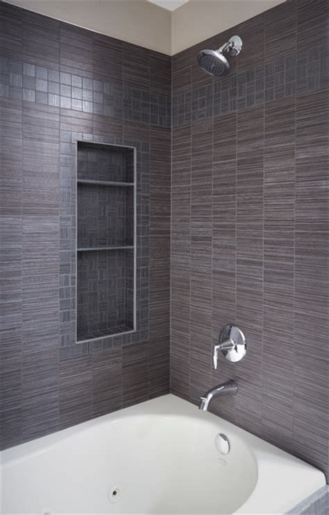 Trim Bathroom by Tile Shower With Storage And Polished Chrome Trim