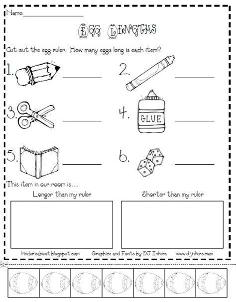 Kindergarten Activities Measurement | kindergarten nonstandard measurement worksheets