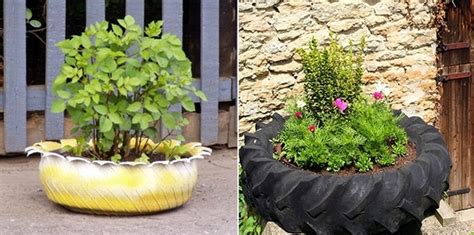 plant used as decoration 24 creative ways to reuse tires as a garden decoration