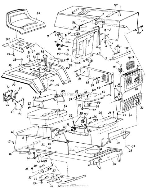 parts diagrams mtd 148 853 000 1988 parts diagram for parts