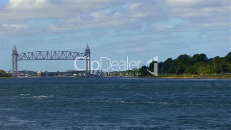 canal boat wind turbine cape cod canal wind turbine 2 royalty free video and