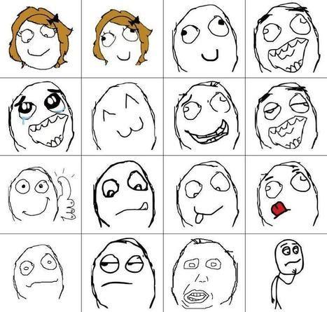 Cartoon Meme Faces - meme cartoon faces brushes set free photoshop