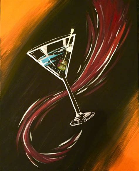 martini glass acrylic painting 27 best the tipsy easel images on easel