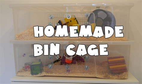 Decoration Homes by How To Make A Homemade Hamster Bin Cage Youtube