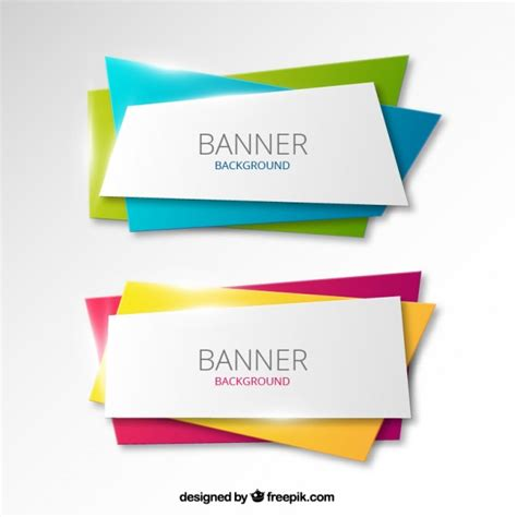 templates for banners free download colorful banners background vector free download