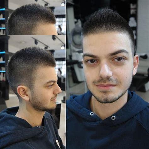 haircutting faux hawk clipper cut hair style fashion