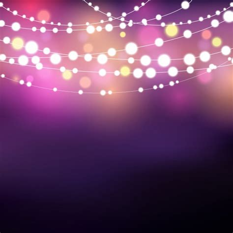 decorative light string decorative background with glowing string lights vector
