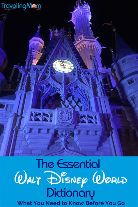 theme park definition dictionary walt disney world dictionary disney tips travelingmom