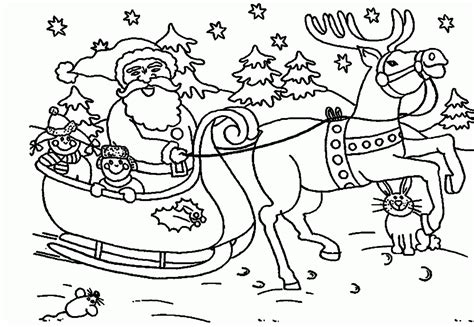 santa claus coloring page santa and reindeer coloring pages printable coloring home