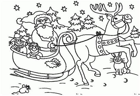 Santa Coloring Page Printables