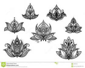 abstract persian and indian flower stock photo image
