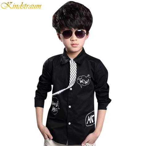 Printed Boy aliexpress buy 2016 new letter printed formal shirts for boys fall 3