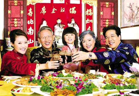 family for new years dishes on tables during festivals guangdong news