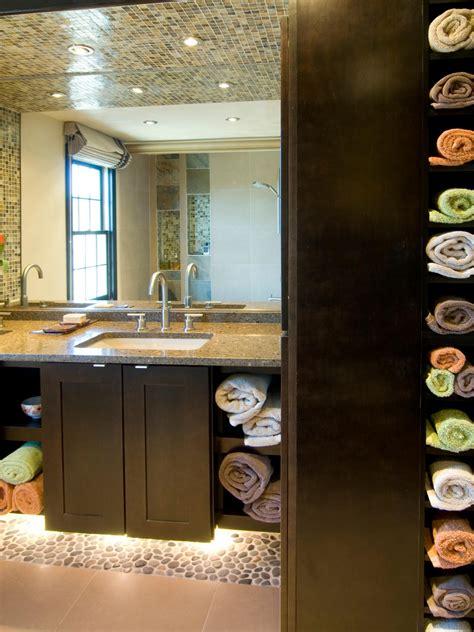 Contemporary Bathroom Storage Ideas Contemporary Small Bathroom Bathroom Towel Storage Ideas