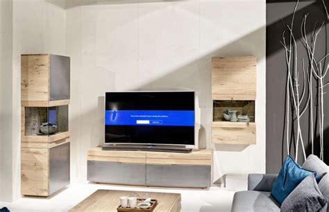 Contemporary Living Room by Rounded Designer Oak Entertainment Unit Modern Oak Tv