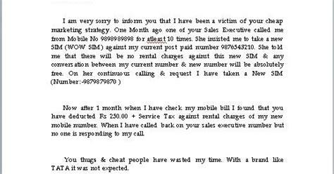 Complaint Letter Esl Every Bit Of Complaint Letter Format In