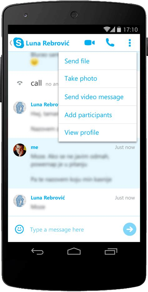 chat for android redesigning skype for android chat merlin rebrović