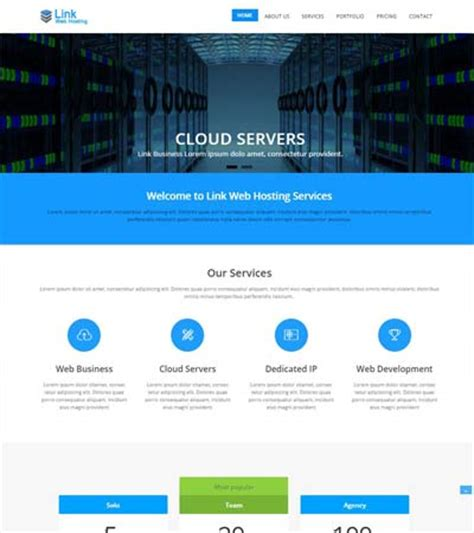 web hosting free bootstrap template download webthemez