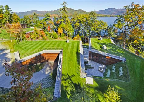gluck s stunning lake house is partially buried a rooftop garden 6sqft