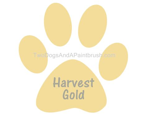 harvest gold chalk paint