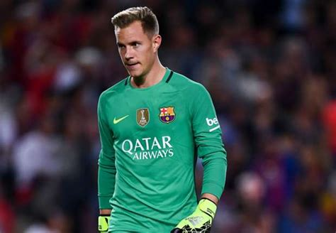 Tshirt Barcelona Blaugrana 16 Ter Stegen pique enrique iniesta discuss barcelona keeper ter stegen s error after 4 3 defeat by celta