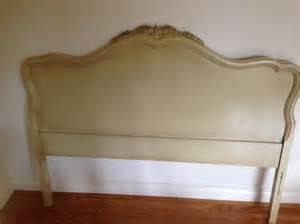 provincial headboard in antique white oak