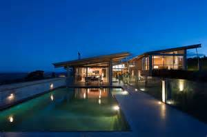 U Shaped Homes Tiered U Shaped Slope Home Features Exposed Steel Elements