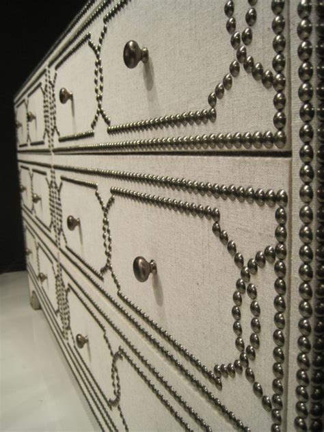 Nailheads For Upholstery by Nailhead Fabric Covered Dresser Do This With Expedit