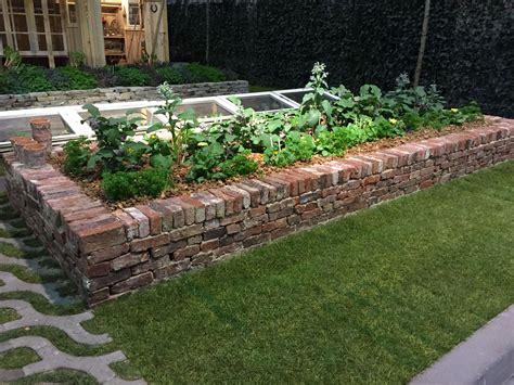 verhoogde tuin verhoogde border van metselstenen verhoogde borders in